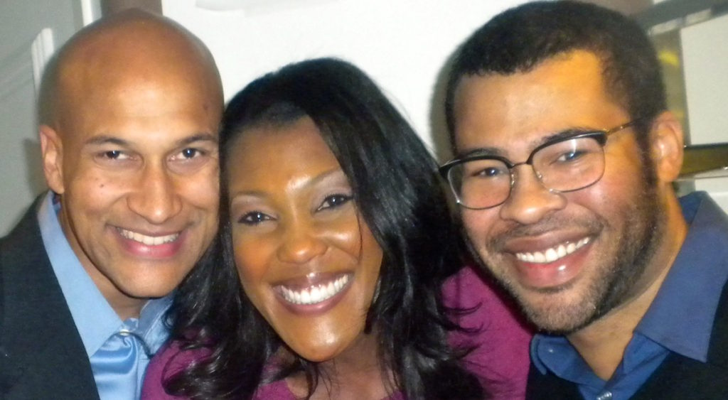 Misty Monroe with Keegan Michael Key and Jordan Peele