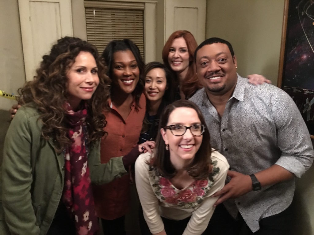 Misty Monroe, Minnie Driver, and Cedric Yarborough - Speechless Cast